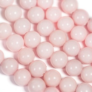 Бусина имитация нефрита 10, цвет розовый, колорир., 10 ...