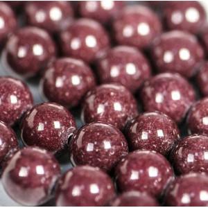 Бусина имитация нефрита, круглая, цвет шоколадный, окра...