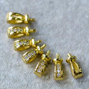 Бейл, цв. золото, 9x4x3 мм...
