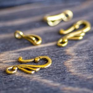 Застежка - тоггл, античное золото, 25х12 мм...