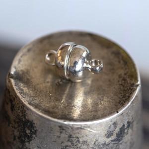 Застежка магнитная круглая, цв. платина, 12х7 мм...