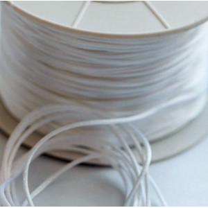 Шнур атласный для кумихимо, цвет белый, 1 мм (уп 4 м)...