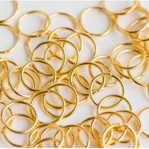 Колечко соединительное 10мм, цвет золото, 10 мм (60 шт)...
