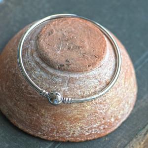 Браслет-основа для бусин с большим отверстием, платина,...