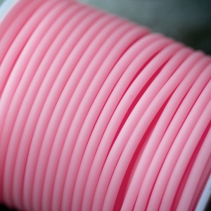 Шнур резиновый, с отверстием, цвет белый, диаметр 3 мм...