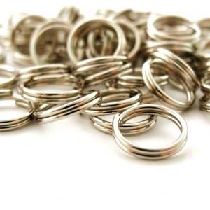 Колечко двойной крутки 6мм, цвет серебро, (50 шт)...
