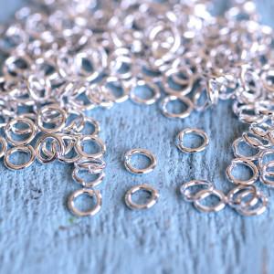 Колечко соединительное 4, цвет серебро, 4 мм (уп 10г)...