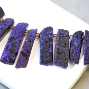 Бусина агат, багет, разные цвета и размеры, окрашен, 25...