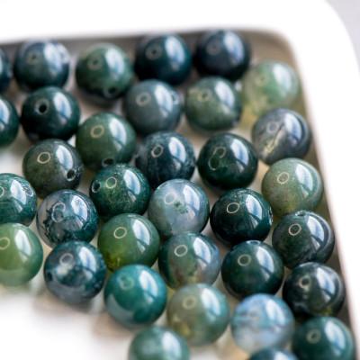 Граненые бусины агата, цвет приглушенно-зеленый, окрашен., 8 мм