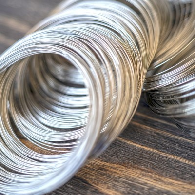 Проволока стальная для браслетов, с памятью, цвет платина, 0,5х65 мм