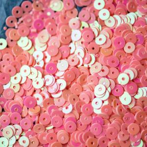 Пайетки,  плоские, насыщенный розовый радужный, 4 мм...