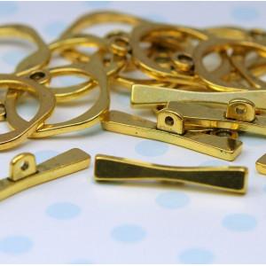 Застежка - тоггл, античное золото, 18x18 мм...
