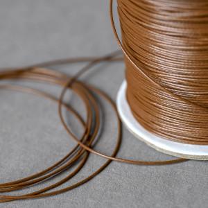 Шнур вощеный синт., коричневый, 0.5 мм...
