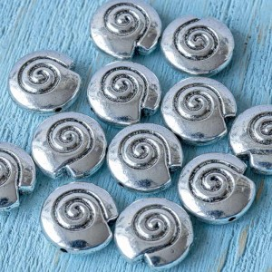 Бусина металлическая фигурная, античное серебро, 15x15x...