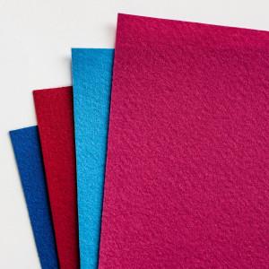 Набор фетра 4 больших листа в розово-синих тонах...