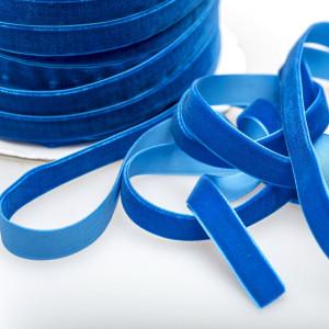 Бархатная лента, яркий голубой, ширина 12,7 мм...