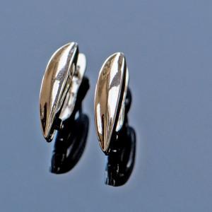 Швензы (основы для сережек), цвет - платина, 21x12x3,5 ...