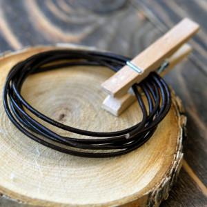 Шнур кожаный, цвет темный коричневый, диаметр 1.5 мм...