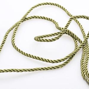 Витой полиэстеровый шнур, болотно-зеленый, 3,5 мм...
