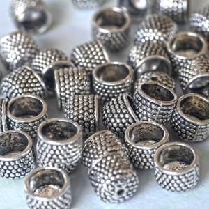 Концевик для шнура, ант. серебро, 10x9 мм...