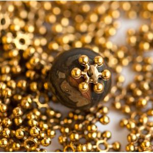 Разделитель для бусин, античное золото, 8х2.5 мм (30 шт...