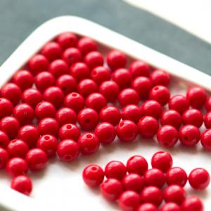 Бусина акриловая круглая, красный, 8 мм...