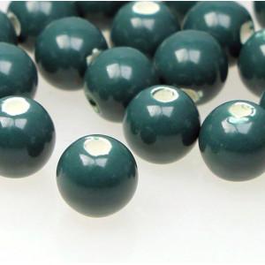 Бусина керамическая круглая, сине-зеленый, 10 мм...