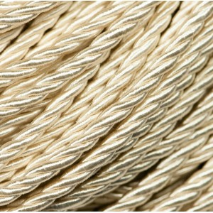 Витой полиэстеровый шнур, сливочный 3,5 мм...