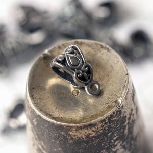 Бейл, цв. черный, 13,5х8х8,5 мм...