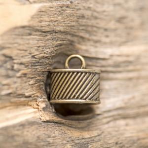 Концевик для шнура, ант. бронза, 16x11 мм...