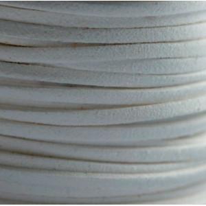 Шнур из искусственной замши, белый, 3х1.5 мм...
