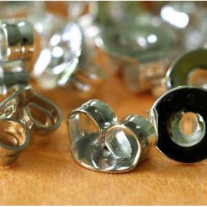 Фиксаторы (застежки) для сережек, платина, 5х5х3 мм...