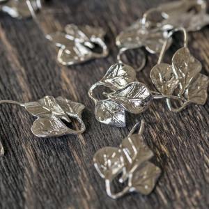 Швензы (основы для сережек), цв. платина, 20x14,5x2 мм...