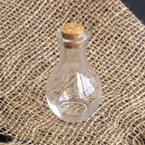 Бутылочка с крышкой, прозрачная, 35х16 мм...