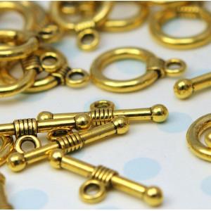 Застежка - тоггл, античное золото, 15x11 мм...