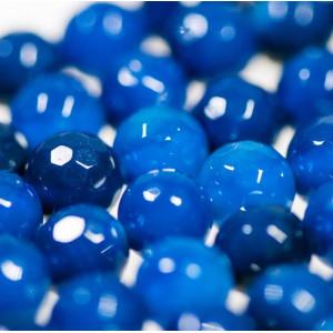 Граненые бусины агата, цвет темно-синий, колорир., 6 мм...