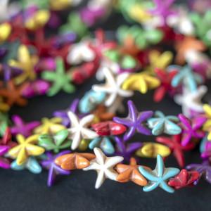 Бусина говлит синтетический в форме звезды, разные цвет...
