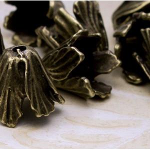 Чашечка (шапочка) для бусин, античная бронза, 16х18х18 ...