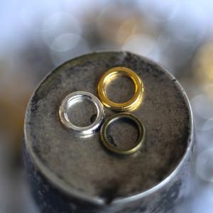 Колечко соединительное 7 мм, разные цвета, 7х1 мм (уп 5...