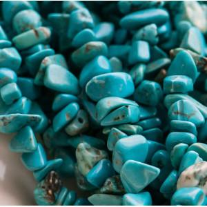 Бусина бирюза синтетическая, осколки, цвет бирюзовый, 5...