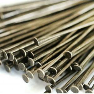 Пины-штифты-гвоздики, платина, 50х0.7 мм (150 шт)...