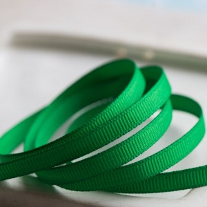 Репсовая лента, зеленый, ширина 6 мм...