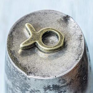 Рамочка для бусин, античная бронза, 13.5x9x3 мм...