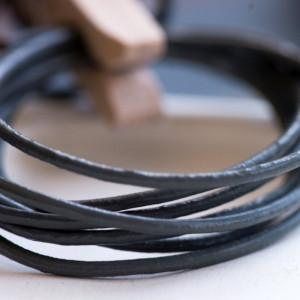 Шнур кожаный, цвет серый, диаметр 1.5 мм...