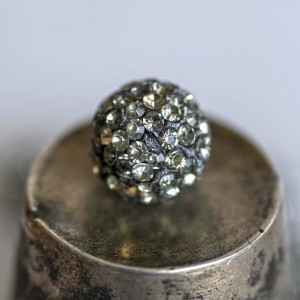 Бусина шамбала, черный бриллиант, 12 мм...
