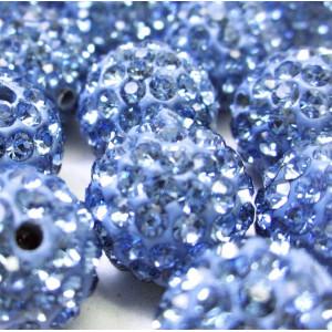 Бусина шамбала, холодный голубой, 10 мм...