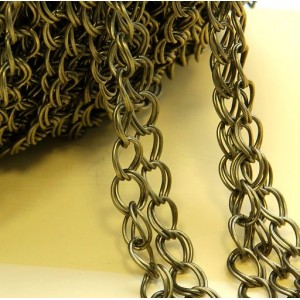 Цепочка для бижутерии, античная бронза, размер звена 8х...
