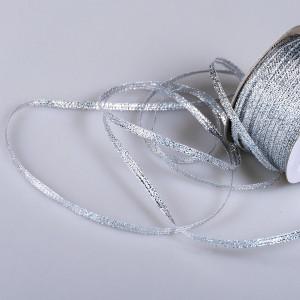 Парчовая лента, серебр. металлик, ширина 3 мм...
