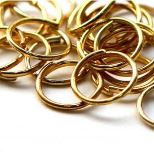 Колечко соединительное 8мм, цвет золото...