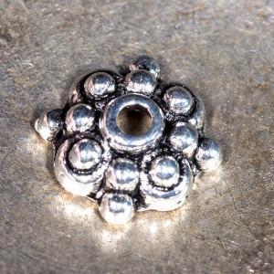 Чашечка (шапочка) для бусин, античное серебро, 8х3 мм...